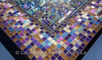 Arizona Glass Tile Pool, Waterline, and All Tile Spa
