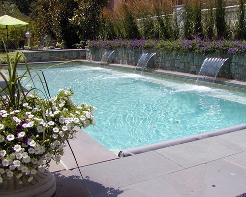 Swimming pool retaining walls home design ideas for Pool design houzz