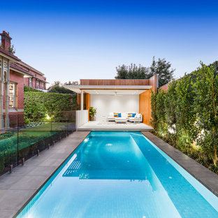 This is an example of a contemporary rectangular pool in Melbourne.
