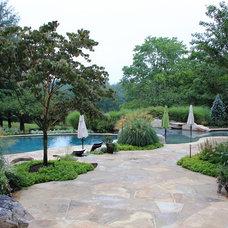 Contemporary Pool by SURROUNDS Landscape Architecture + Construction
