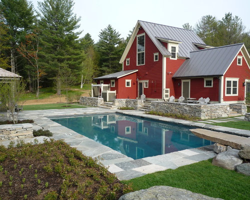 Stone Around Pool Houzz