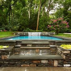 Traditional Pool by Evelyn Benatar, New York Interior Design