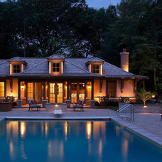 Traditional Pool by Randall Architects
