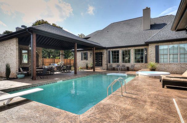 Traditional Pool by Cobblestone Homes