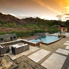 Southwestern Pool by California Pools & Landscape