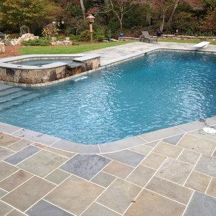 Atlanta Metro Custom Pool Renovations - Blue Granite PebbleSheen