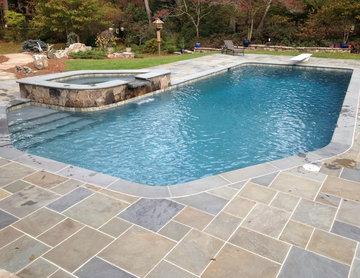 Atlanta Metro Custom Pool Renovations - Blue Granite PebbleSheen