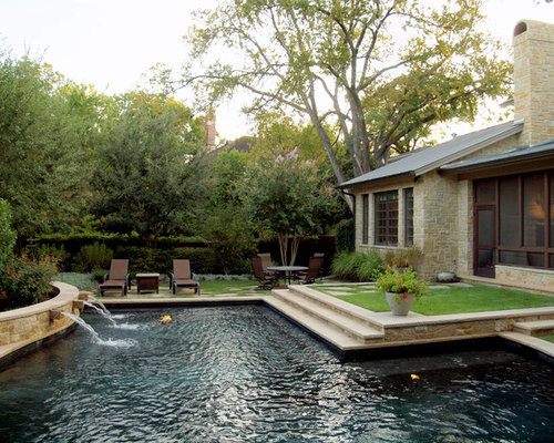 Dark Bottom Pool Home Design Ideas Pictures Remodel And