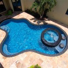 Mediterranean Pool by Travertine Warehouse