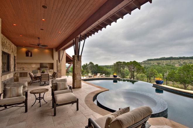 Mediterranean Pool by Jenkins Custom Homes