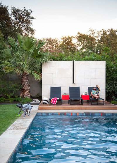 Contemporary Pool by Ryann Ford Photography