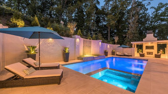 Back Yard Oasis with Pool, Spa & Fireside Outdoor Room