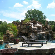 Traditional Pool by RYCO Landscaping