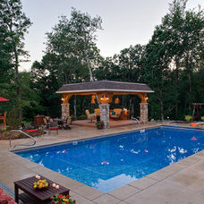 Traditional Pool by Southview Design