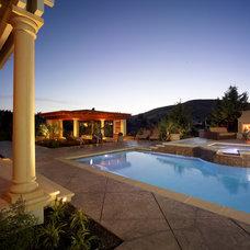 Mediterranean Pool by Susan Friedman Landscape Architecture
