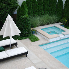 contemporary pool by Wheat's Landscape