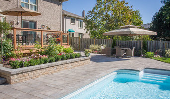 Backyard landscaping in Thornhill