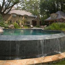 Traditional Pool by Land Plus Associates, Ltd