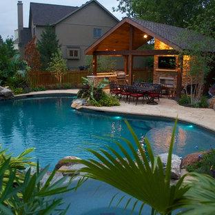Foto e Idee per Piscine - piscina di medie dimensioni Kansas ...