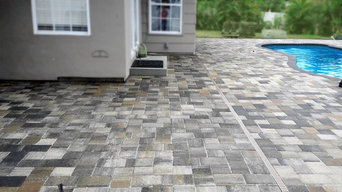 Backyard Pool Area Stone Paver