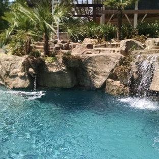 Backyard pool resort