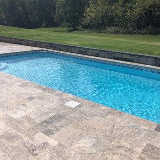 Backyard pool with Natural Stone