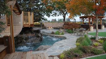 Backyard Rock House