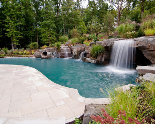 Swimming Pools With Waterfalls