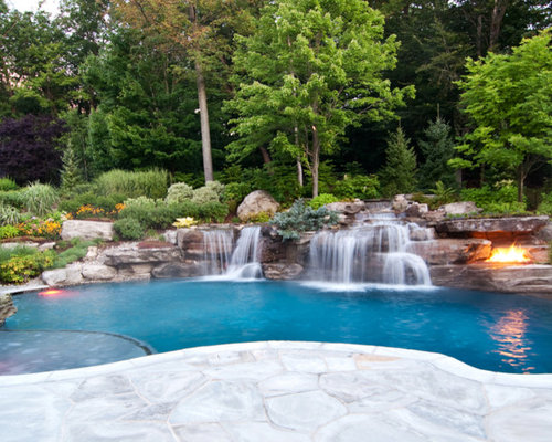 Best Swimming Pool Waterfall Design Ideas & Remodel Pictures | Houzz