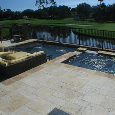 Contemporary Pool by Florida Bonded Pools