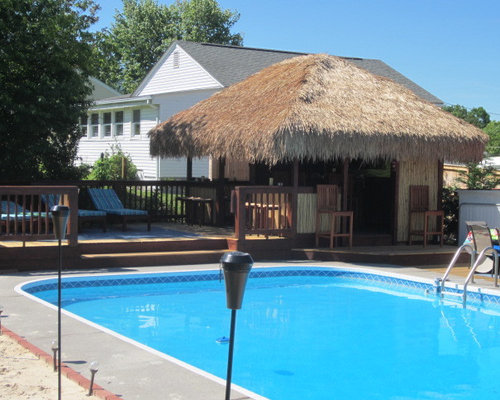 Pool Tiki Bar Ideas diy pallet tiki bar feature of the day Island Style Pool Photo In Other