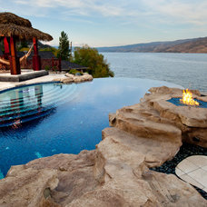 Tropical Pool by Hampton Pools and Landscape