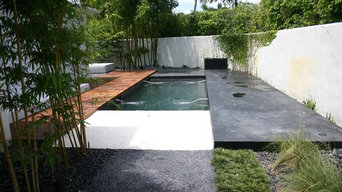 Balinese glass tile pool