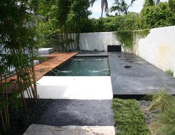Balinese glass tile pool