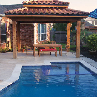 Balinese Inspired Poolscape, Pergola and Gardens