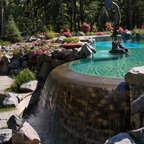 Rough Hollow Outdoor Living Mediterranean Pool