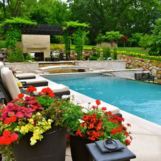 Traditional Pool by Doering Landscape Company