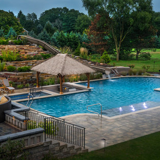 Barrington Hills Swimming Pool, Hot Tub, Sunken Bar and Slide