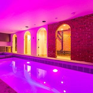 Pool - rustic pool idea in New York
