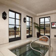 Traditional Pool by Euro Laguna Marble, Inc.