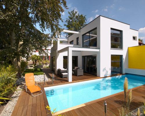 Bauhaus villa mit ganzj hrig beheiztem salzwasserpool for Bauhaus pool