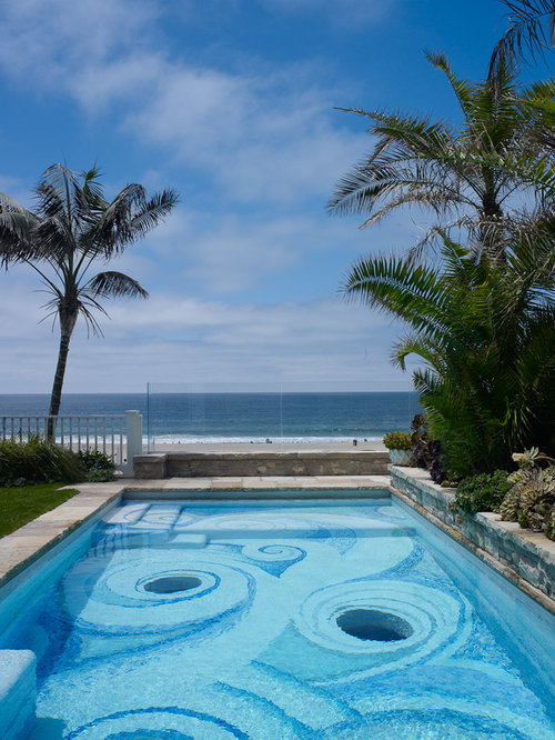 Tropical los angeles pool design ideas remodels photos for Pool design los angeles