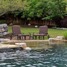 Traditional Pool by Keith Zars Pools