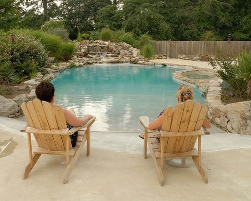 Beach entry pools home design ideas pictures remodel and for Pool design with beach entry
