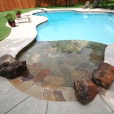 Beach Style Pool by Pulliam Pools