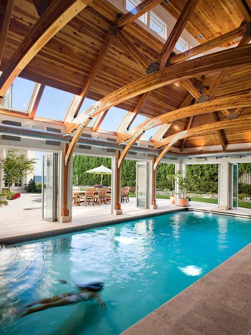 Example Of A Coastal Indoor Rectangular Pool Design In Bridgeport