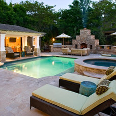Contemporary Pool by Bruce Palmer Coastal Design