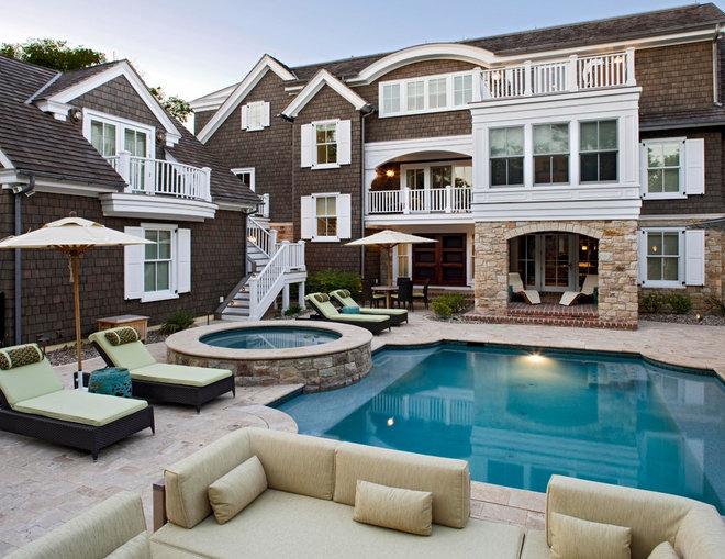 Traditional Pool by Bruce Palmer Coastal Design