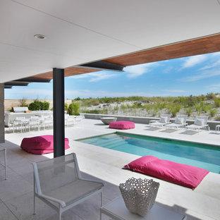 Idee per una piscina stile marinaro rettangolare