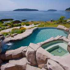 Beach Style Pool by Alka Pool Construction Ltd